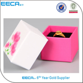 Square gift box custom wedding jewelry ring paper box/engagement ring box